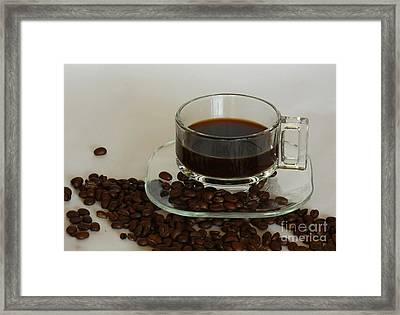 Cup Of Java Framed Print by Inspired Nature Photography Fine Art Photography