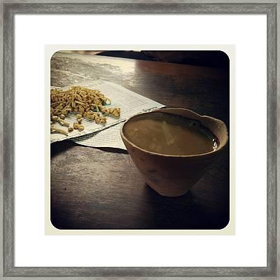 Cup Of Life Framed Print by Prashant Ambastha