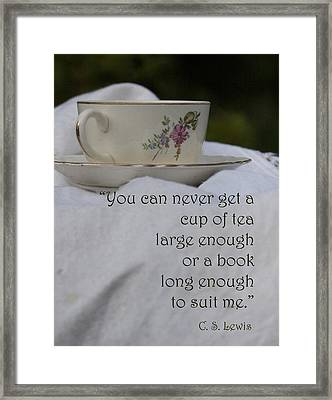 Cup Of Tea Framed Print by Karen Kuykendall