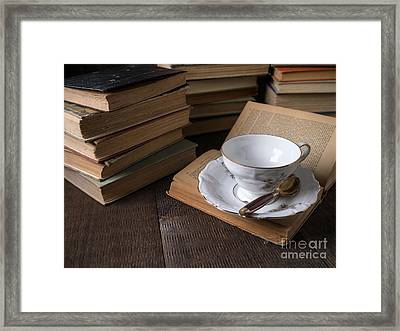 Cup Of Tea With Old Friends Framed Print by Edward Fielding