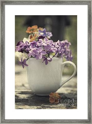 Cup Of Wildflowers Framed Print by Edward Fielding
