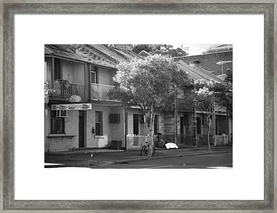 Cup With A Straw Framed Print by Lee Stickels