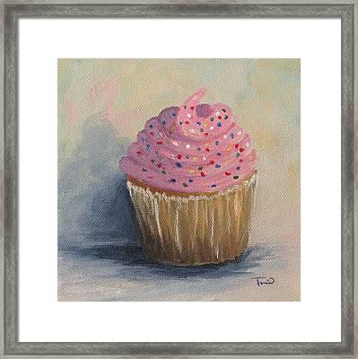 Cupcake 004 Framed Print by Torrie Smiley