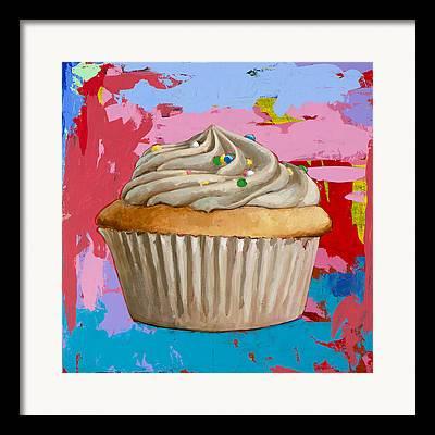 Dessert Paintings Framed Prints