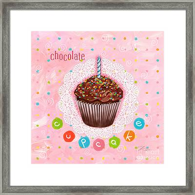 Cupcake-chocolate Framed Print