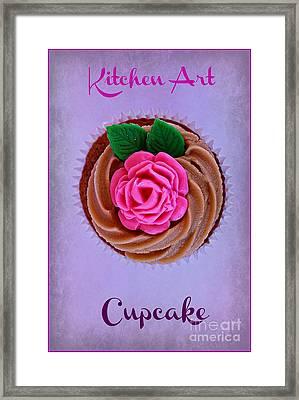 Cupcake Framed Print by Clare Bevan