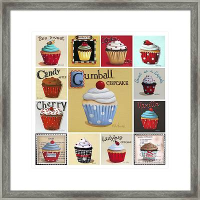 Cupcake Collage Framed Print by Catherine Holman