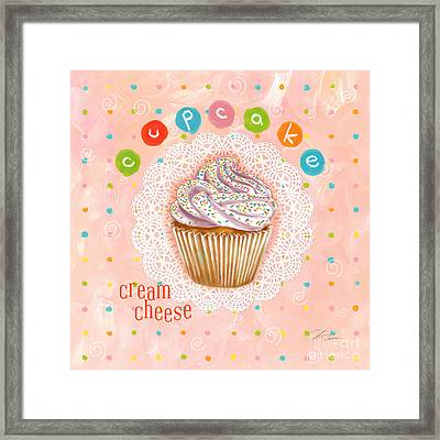 Cupcake-cream Cheese Framed Print