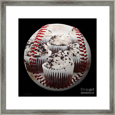 Cupcake Cuties Baseball Square Framed Print by Andee Design