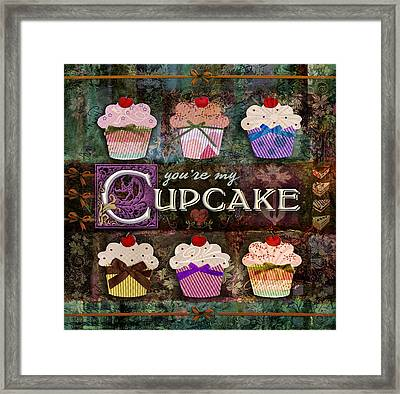 Framed Print featuring the digital art Cupcake by Evie Cook