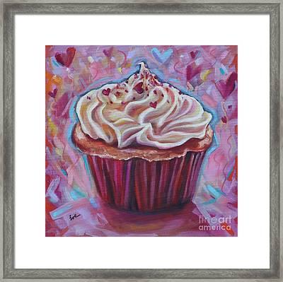Cupcake Love Framed Print by Eve  Wheeler