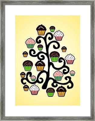 Cupcake Tree Framed Print