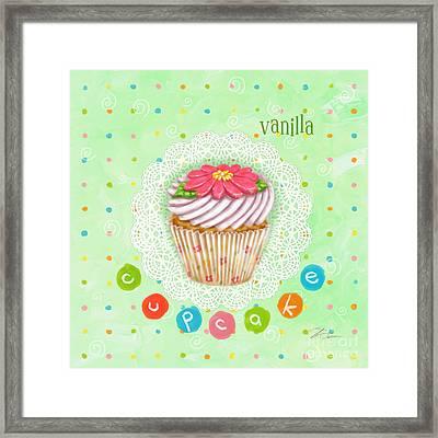 Cupcake-vanilla Framed Print by Shari Warren