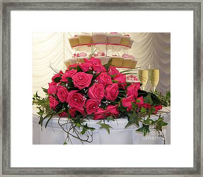 Cupcakes And Roses Framed Print by Terri Waters