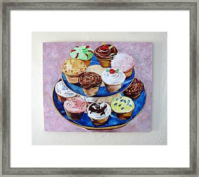 Cupcakes Framed Print by Marianne Clancy