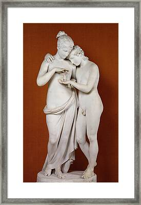 Cupid And Psyche Framed Print by Antonio Canova