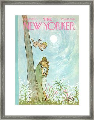 Cupid Coupling Framed Print by William Steig
