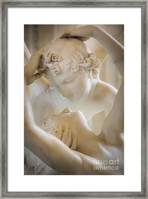 Cupid Kissing Psyche Framed Print by Brian Jannsen