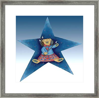 Cupid's Teddy Bear Framed Print