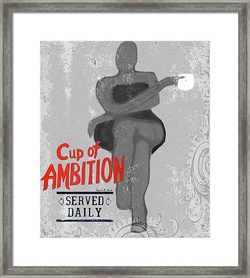 Cupofambition Framed Print