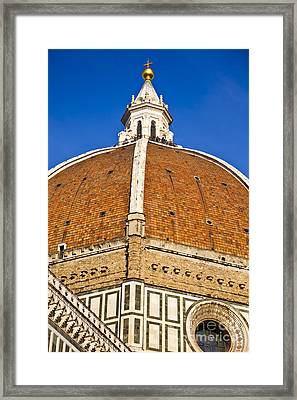 Cupola On Florence Duomo Framed Print