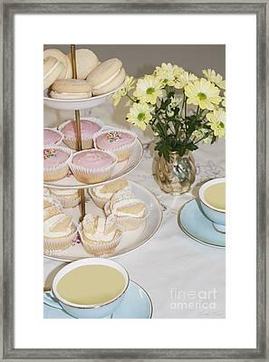 Cuppa And Cake  Framed Print by Linda Lees