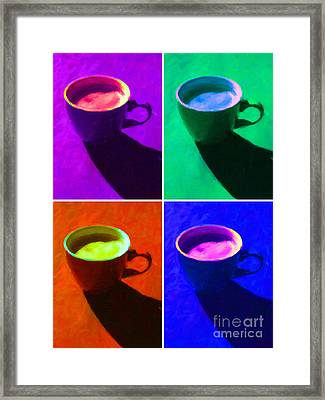 Cuppa Joe - Four Framed Print by Wingsdomain Art and Photography