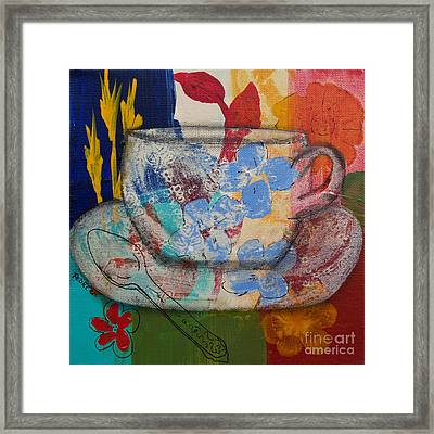 Cuppa Luv Framed Print