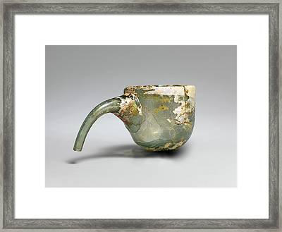 Cupping Glass Or Alembic, 9th-11th Framed Print