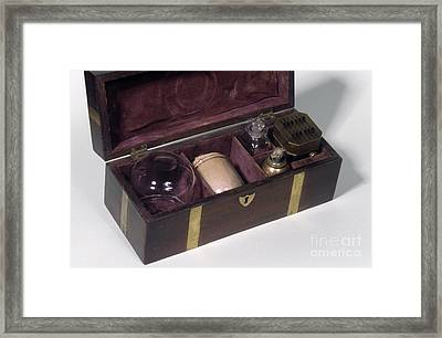Cupping Set, 19th Century Framed Print