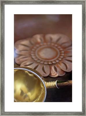 Cups Used For Purifying And Washing Framed Print by Paul Dymond
