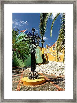 Curacao Colorful Architecture Framed Print by Amy Cicconi