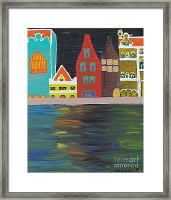 Curacao Nights Framed Print by Melissa Vijay Bharwani