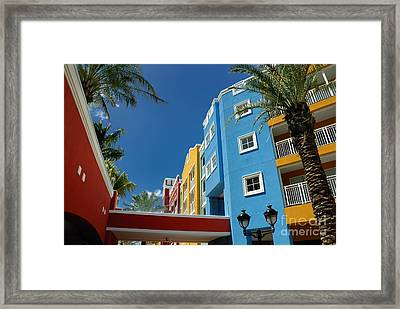 Curacaos Colorful Architecture Framed Print