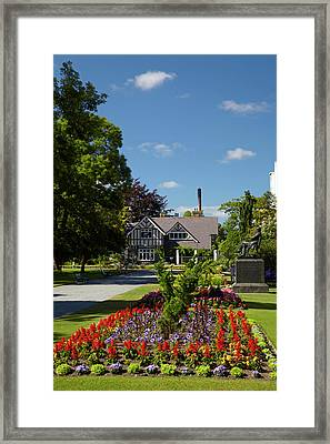Curator's House And Botanic Gardens Framed Print by David Wall