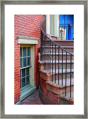 Curbside View Framed Print by Mark Lemon