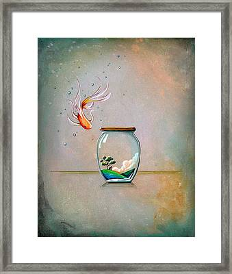 Curiosity Framed Print by Cindy Thornton