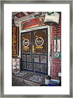 Curiosity On Oklahoma Route 66 Framed Print by Lee Craig