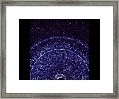 Curiosity Rover Martian Soil Analysis Framed Print by Science Photo Library