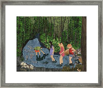 Curious And Cautious Framed Print by Anita Jacques