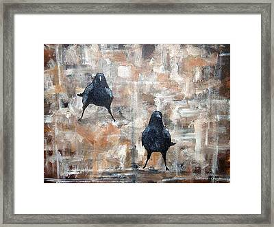 Curious Crows  Framed Print