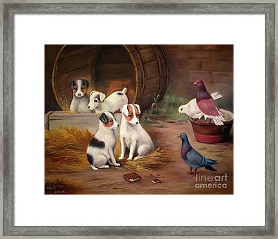 Curious Friends Framed Print