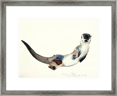 Curious Otter Framed Print by Mark Adlington