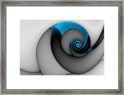 Curl Blue Framed Print by Mark Eggleston