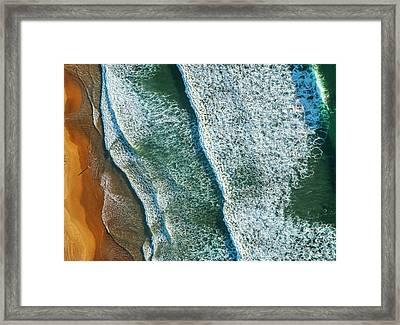 Curl Curl Aerial Framed Print by Ignacio Palacios