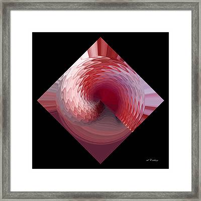 Framed Print featuring the digital art Curl I by rd Erickson
