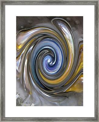 Curlicue Twirl Framed Print