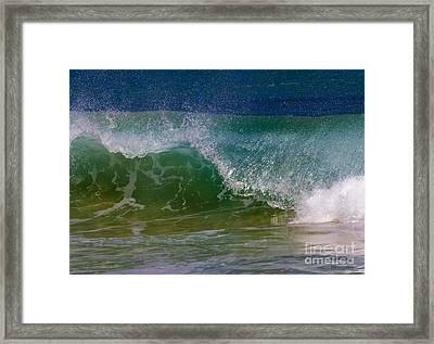 Curling Over Framed Print by Mike Dawson