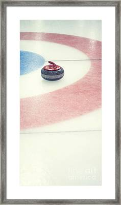 Curling Stone In A Distance Framed Print by Priska Wettstein