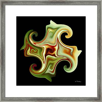 Framed Print featuring the digital art Curls by rd Erickson